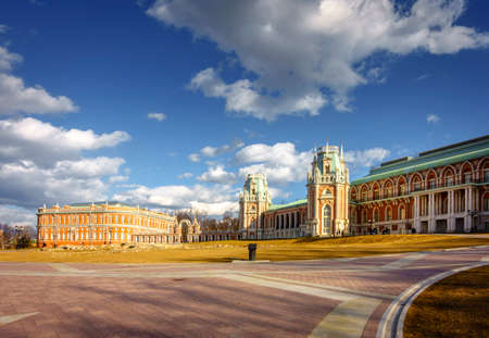 Restored Tsaritsyno Palace in Moscow originally built for Catherine The Great