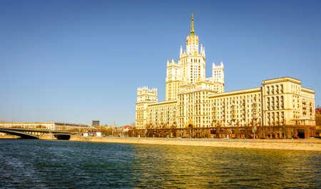 kotelnicheskaya embankment: A view of Kotelnicheskaya Embankment Building - a Moscow architectural landmark