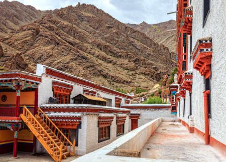 Courtyard in Thikse Buddist Monastery near Leh, Kashmir, India