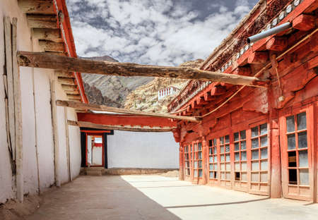 quarters: Monks quarters in Thiksay monastery in Ladakh, Kashmir, India