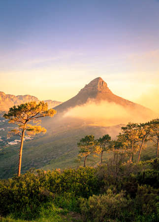 Lions Head Mountain in Cape Town, South Africa Stock Photo