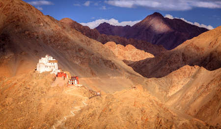 Sankar Buddhist Monastery in Leh, Ladakh, India Stock Photo