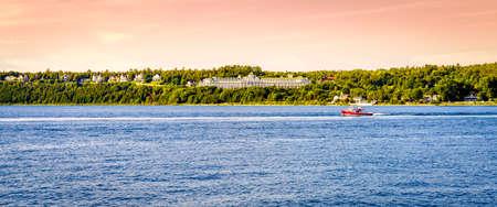 mackinac: View of Mackinac Island Grand Hotel, Michigan Stock Photo