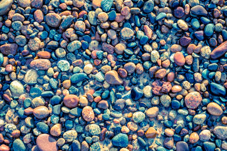 lake beach: Colorful pebbles on a Lake Superior beach in Whitefish Point, Michigan Stock Photo