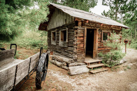 Office cabin at an abandoned mine on Upper Peninsula, Michigan