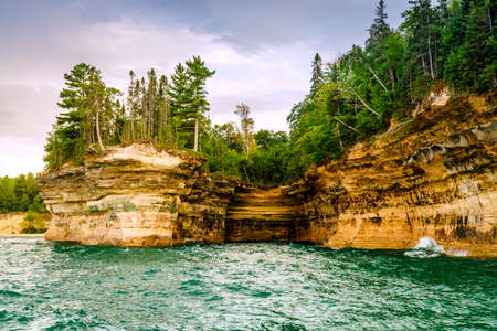 superiors: Rock Formations at Pictured Rocks National Lakeshore on Upper Peninsula, Michigan