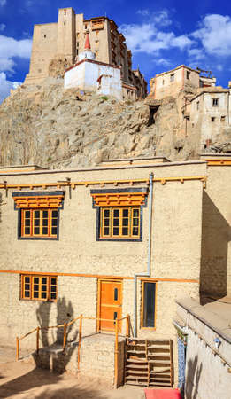 View of Leh Palace or Namgyal Tsemo Monastery in Leh, Ladakh, India Stock Photo