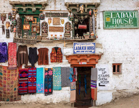 Leh, Ladakh, India, July 12, 2016: souvenir store display in Leh, Ladakh district of Kashmir, India Editorial