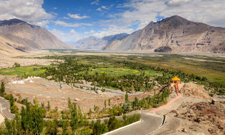 Nubra Vally in Ladakh region of Kashmir, India Stock Photo