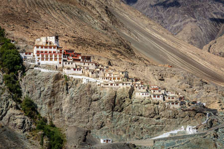 Diskit Buddhist Monastery in Nubra Valley in Kashmir, India