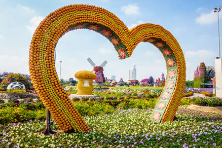 Dubai, UAE, January 22, 2016: Miracle Garden is one of the main tourist attractions in Dubai, UAE