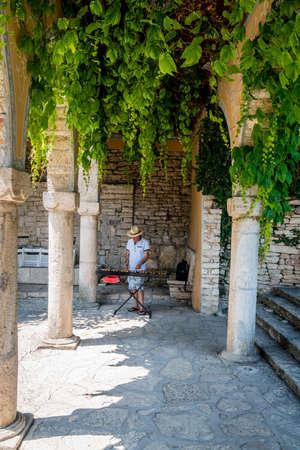 Balchik, Bulgaria, June 25, 2017: a man playing xylophone in Balchik Palace gardens in Balchik, Bulgaria Editorial