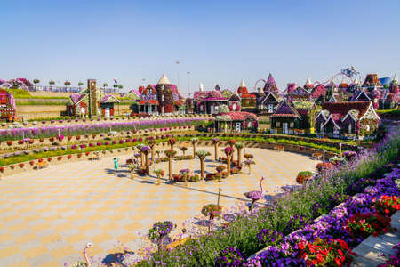 Dubai, UAE, December 12, 2016: Miracle Garden is one of the main tourist attractions in Dubai, UAE Editorial