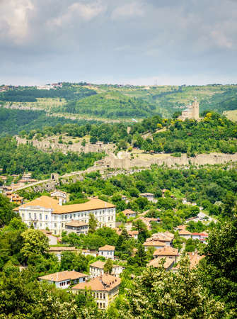 Scenic overlook of Tsarevets in Veliko Tarnovo, Bulgaria