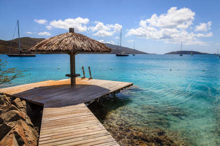 Tropical resort in BVI Stock Photo