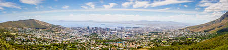 Panoramic view of the city of Cape Town the Atlantic coast Stock Photo