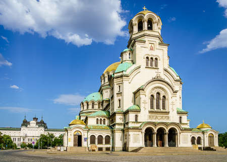 The St. Alexander Nevsky Cathedral in Bulgarian capital Sofia Editorial