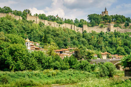 Tsarevets hill and fortress in Veliko Tarnovo, Bulgaria