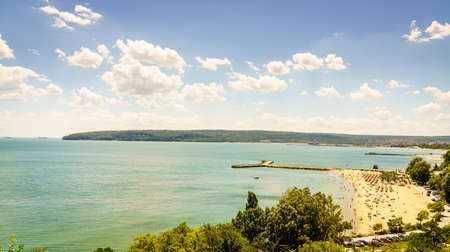 Scenic view of the beaches along the Black Sea coast of Varna, Bulgaria