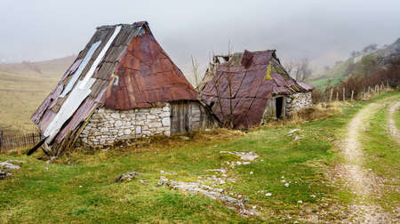 An old village in the mountains of Bosnia-Herzegovina