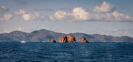 The Indians rock formations in British Virgin Islands