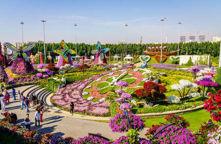 Dubai, UAE, December 12, 2016: Miracle Garden is one of the main tourist attractions in Dubai, UAE