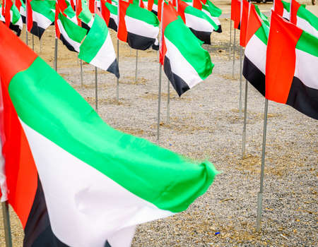 Display of UAE flags on UAE National Day