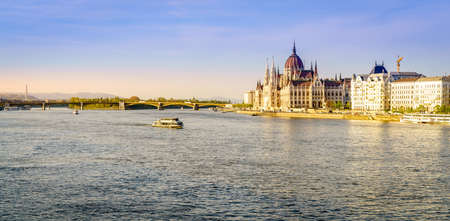 View of the Danube River and the Parliament building in Budapest, Hungary