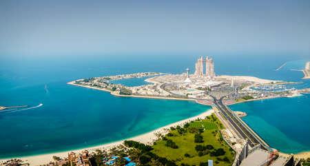 Aerial view of Marina Mall and Marina Village in Abu Dhabi, UAE