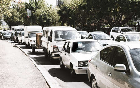 Traffic in downtown area in Cape Town, South Africa