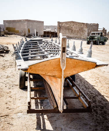 Ghost town of Al Jazirat Al Hamra in Ras Al Khaimah, UAE