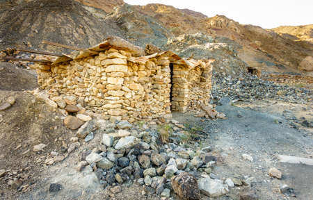 Primitive stone shelter in the mountains of Fujeirah, UAE