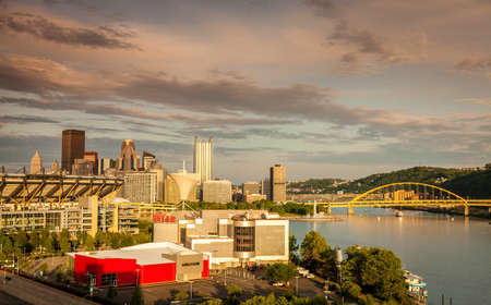 View of downtown Pittsburgh skyline from the Ohio River