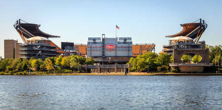 Pittsburgh, Pennsylvania, May 23, 2015: view of Heinz Field football stadium - home of the Steelers and the Panthers