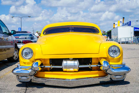 Detroit, Michigan, August 19, 2016: custom built car at Woodward Dream Cruise - largest one-day automotive event in USA