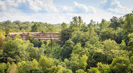 Natural Bridge rock formation in Red River Gorge Geological Area in Kentucky