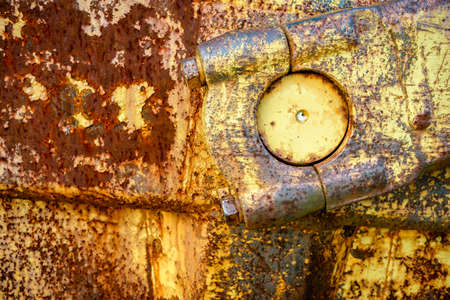 Close-up image of rusted machinery part