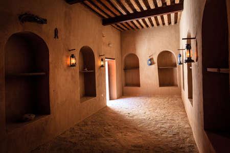 Rustaq, Oman, May 28, 2016: Supply room in historic Rustaq Fort in Oman