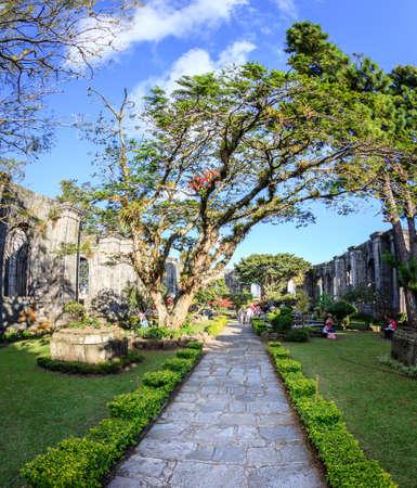 Cartago, Costa Rica - November 22, 2014: Ruins of the Santiago Apostol Church in the city of Cartago, Costa Rica Editöryel