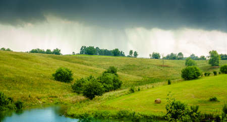 Scenic image of rainy weather in the Bluegrass region of Kentucky