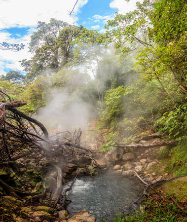 Boiling geothermal pool in Rincon de la Vieja National Park in Costa Rica