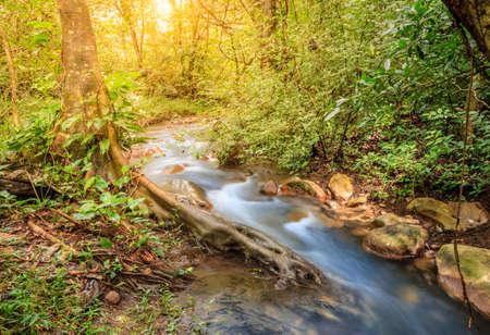 Long exposure image of a small stream in Rincon de la Vieja National Park in Costa Rica