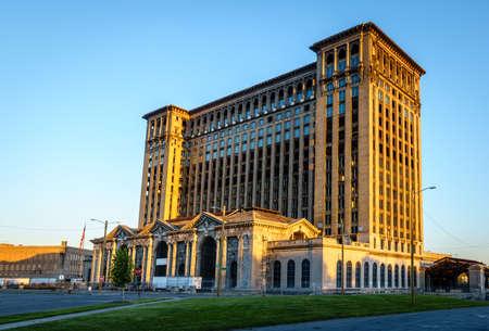 Historic Detroit Central Station building in abandonment Stok Fotoğraf