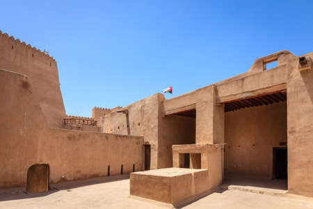 Inner courtyard in Rustaq Fort in Oman