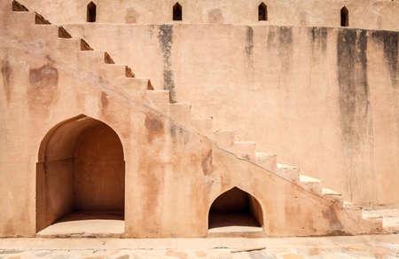 Wall fragment of Rustaq Fort in the city of Rustaq, Oman