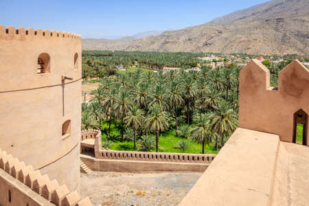 View from the wall of Rustaq Fort in the city of Rustaq, Oman Editöryel