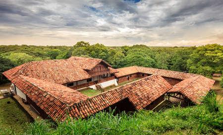 La Casona historic site in Santa Rosa National Park in Costa Rica Stok Fotoğraf