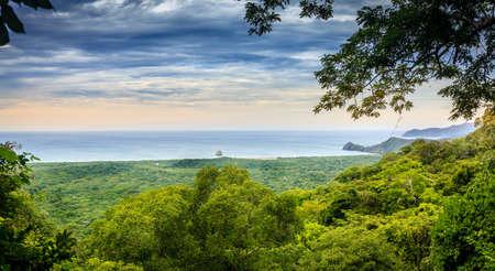 Overlook of Pacific coastline in Santa Rosa National Park in Costa Rica Stok Fotoğraf