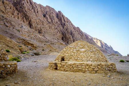 View of ancient beehive tombs near Al Ain, UAE Stok Fotoğraf