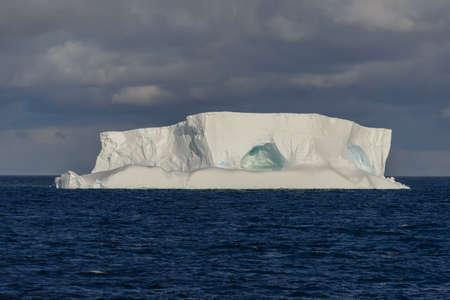 Antarctic seascape with tabular iceberg